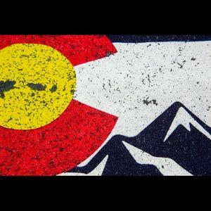 Two Colorado Mountain Flag Tees